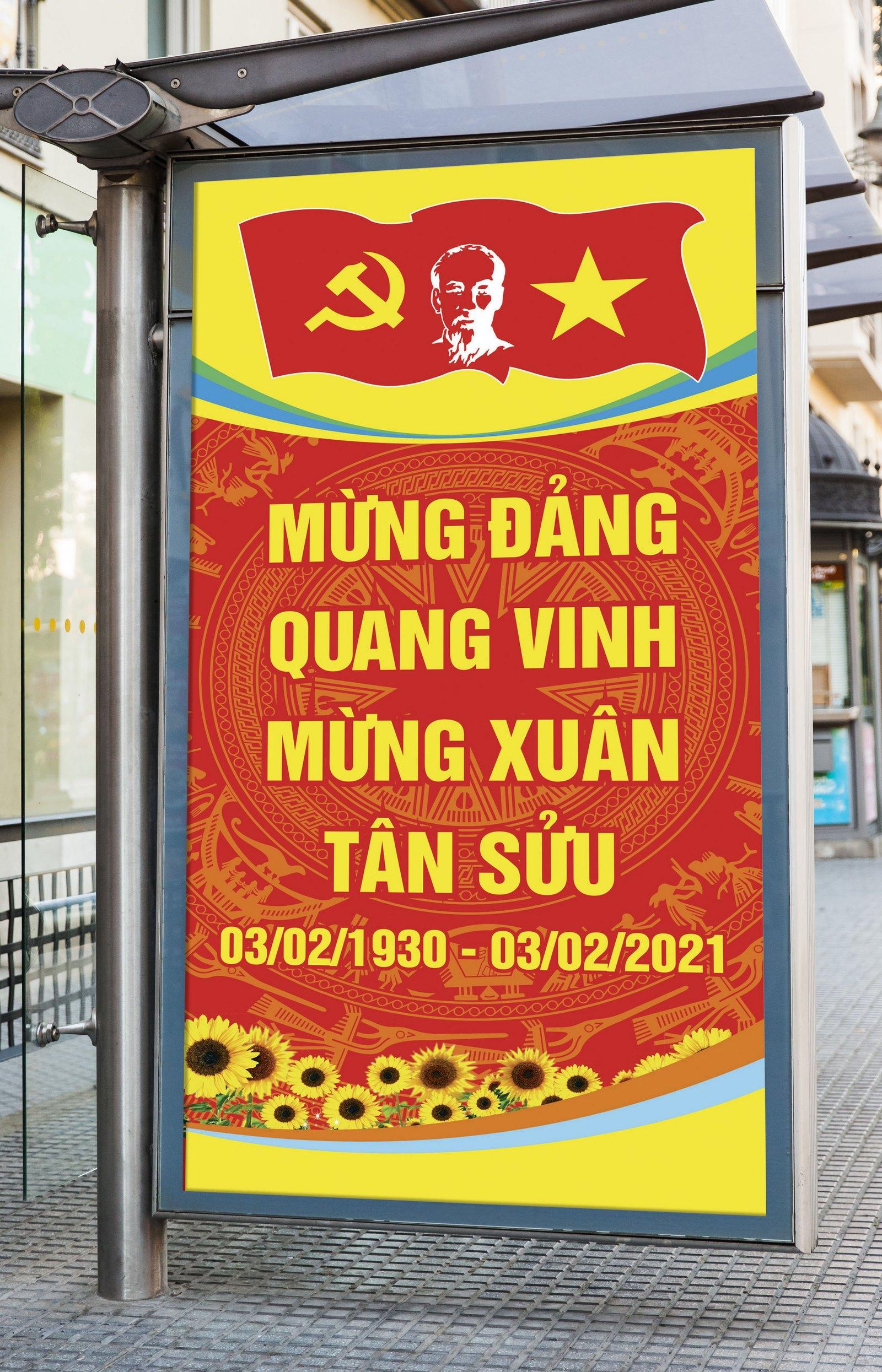 Pano tranh cổ động mừng đảng mừng xuân 2021 04
